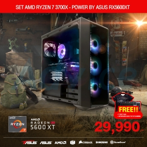 COMPUTER SET AMD RYZEN 7 3700X - POWER BY ASUS RX5600XT