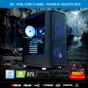 COMPUTER SET INTEL CORE I5 9400F - POWER BY ASUS RTX 2070